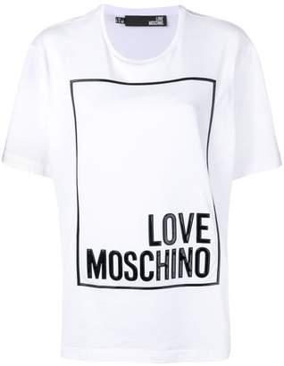 Love Moschino oversized logo print T-shirt