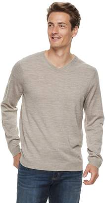 Apt. 9 Men Wool-Blend Merino V-Neck Sweater