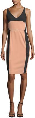 Narciso Rodriguez Bicolor Scoop-Neck Sleeveless Dress