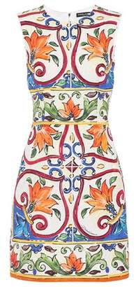 Dolce & Gabbana Cotton and silk-blend minidress