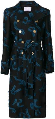 Sonia Rykiel monogram print trench coat