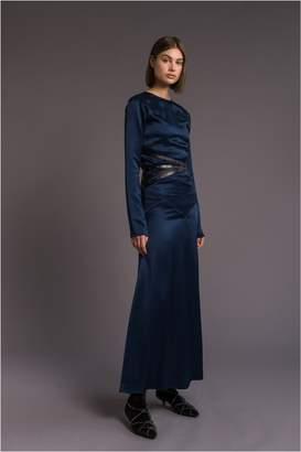 Sonia Rykiel Backless Crepe Satin Dress