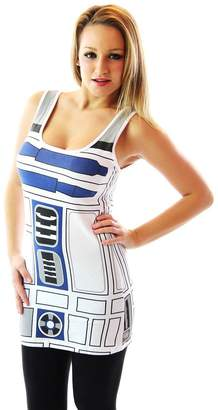 Mighty Fine Star Wars R2-D2 Robot Juniors Costume Tank Top Shirt (X-Large, )