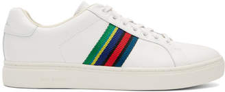 Paul Smith White Lapin Stripe Sneakers