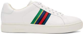 Paul Smith White Lapin Stripe Sneakers