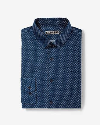 Express Extra Slim Micro Print Dress Shirt
