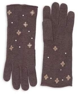 Portolano Embellished Knit Gloves