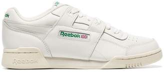 Reebok white Workout Lo Plus low-top leather sneakers