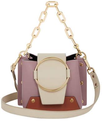Yuzefi Limited Delila Mini Colorblock Leather Bucket Bag