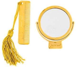 Judith Leiber Compact Mirror & Comb