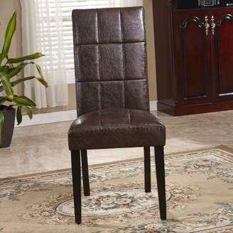 Bellasario Collection Classic Waxed Texture Parsons Chair Bellasario Collection