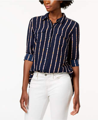 Charter Club Printed Button-Front Shirt