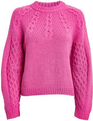 Sea Bric Mohair Wool Honeycomb Sweater
