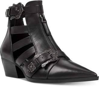 Nine West Carrillo Cutout Buckle Booties Women Shoes