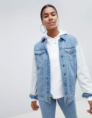Noisy May Bleach Sleeve Denim Jacket