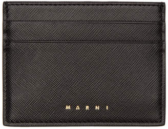 Marni Black Logo Card Holder