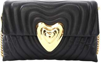 Escada Heart bag Black Leather Handbag
