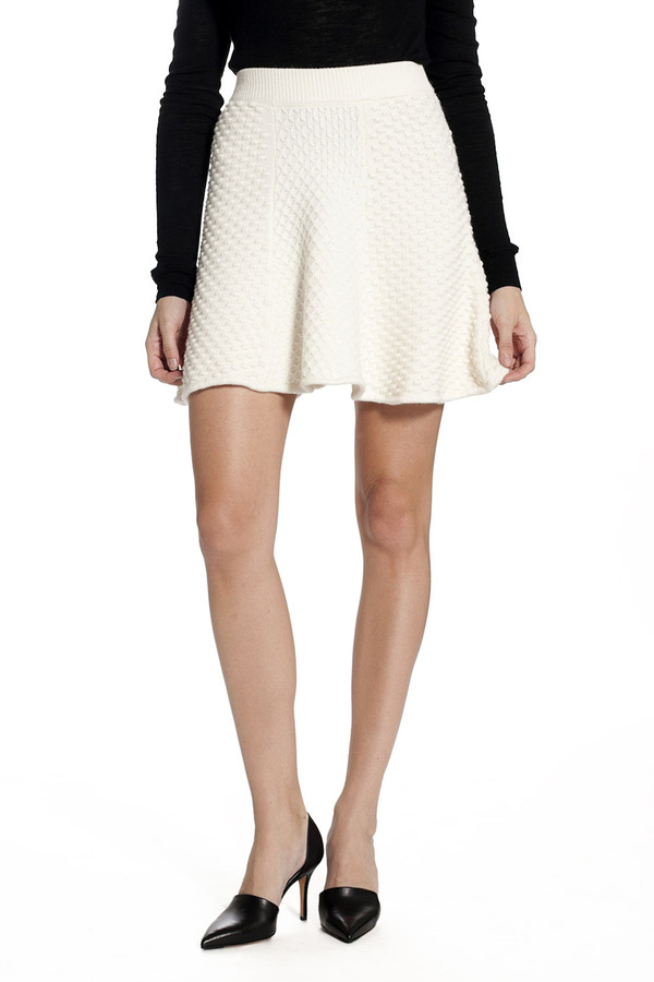 Torn By Ronny Kobo Anabel Skirt Ivory