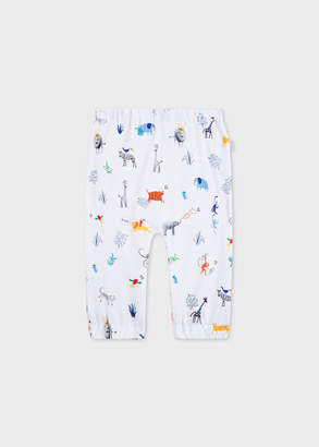 Paul Smith Baby Boys' 'Animals' Print Reversible Pants