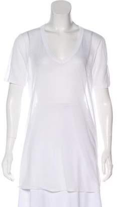 The Row Short Sleeve V-Neck T-Shirt