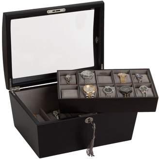 Mele Royce Locking Watch & Jewelry Box