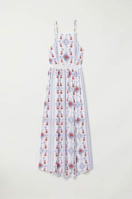 H&M Patterned Maxi Dress - White