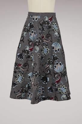 Erdem Maury long skirt