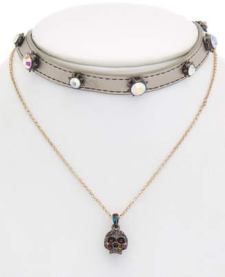 Betsey Johnson Halloween Cz Multi-Necklace