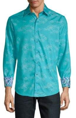 Robert Graham Eppes Printed Cotton Button-Down Shirt