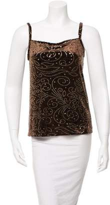 Anna Sui Metallic-Accented Tank Top