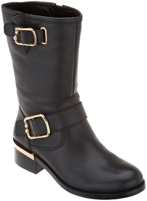 Vince Camuto Harness Detailed Mid-Calf Boots - Wantilla