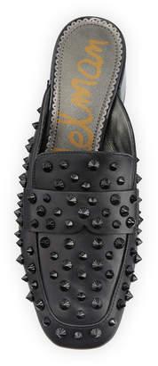 Sam Edelman Agustus Spike-Studded Leather Mules