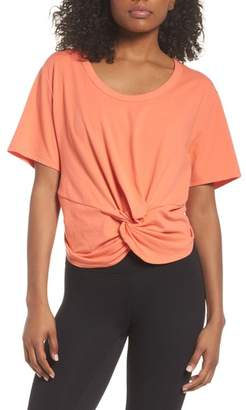 Zella Knotty Crop Tee