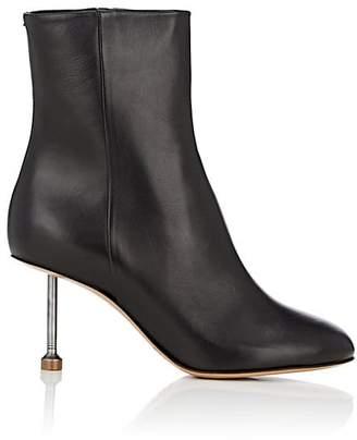 Maison Margiela Women's Metal-Heel Leather Ankle Boots