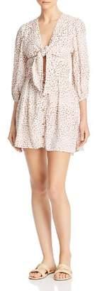 Faithfull The Brand Trinidad Tie-Front Cutout Mini Dress