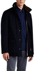 Loro Piana Men's Winter Voyager Cashmere Melton Coat - Navy