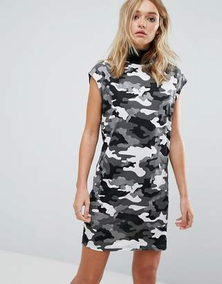 Cheap Monday Camo Print High Neck Sleeveless Dress