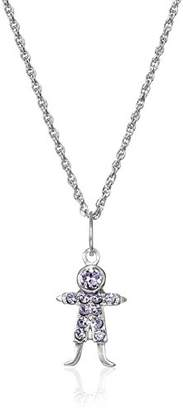 Swarovski Sterling Silver Crystal Birthstone-Colored Boy Pendant Necklace