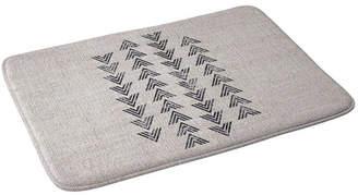 Deny Designs Holli Zollinger French Linen Tri Arrow Bath Mat Bedding