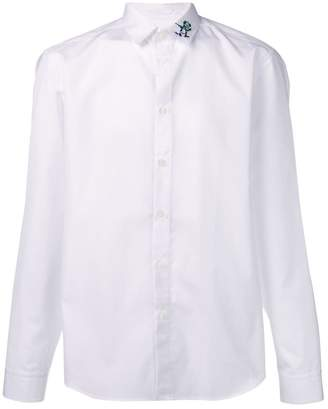 Kenzo embroidered collar long-sleeved shirt