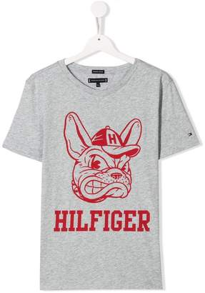 Tommy Hilfiger Junior TEEN logo Bulldog print T-shirt