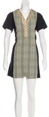 Proenza Schouler Abstract Print Mini Dress