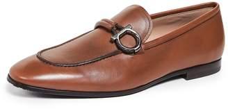 Salvatore Ferragamo America Side Gancini Loafers