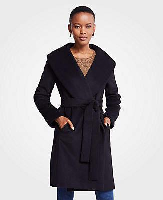 Ann Taylor Shawl Collar Wrap Coat