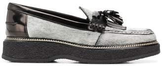Tod's fringe tassel loafers