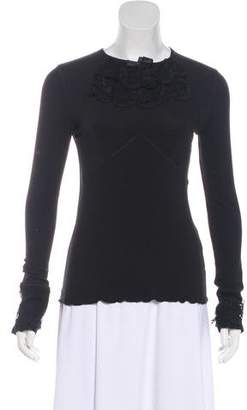 Viktor & Rolf Lace-Accented Long Sleeve Top