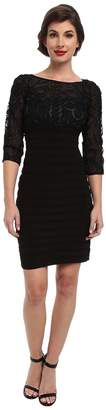 Adrianna Papell Passementary Emb Banded Dress Women's Dress