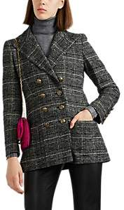 Philosophy di Lorenzo Serafini Women's Plaid Wool-Blend Double-Breasted Blazer - Gray
