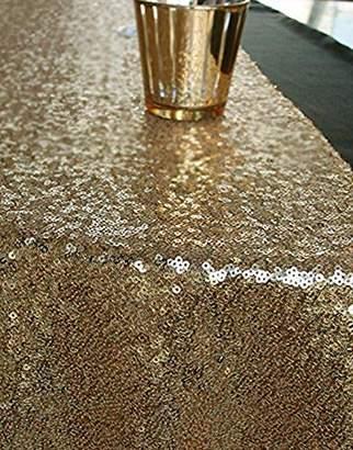 """QueenDream Gold Table Runner 14""""x80"""" Gold Table Runner wholesale sequin runner"""