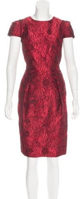 Carmen Marc Valvo Embroidered Sheath Dress $225 thestylecure.com